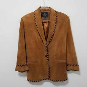 Vintage THE LIMITED 90's Suede Leather Blazer